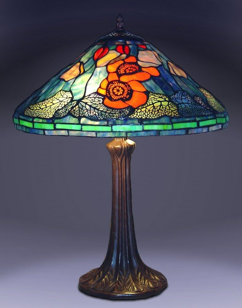 New Stained Glass Water Lilly Table Lamp Tiffany Stained