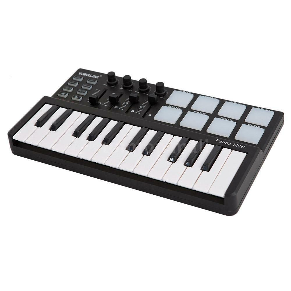 worlde panda midi controller 25 key usb keyboard midi drum pad portable i0s3 ebay. Black Bedroom Furniture Sets. Home Design Ideas