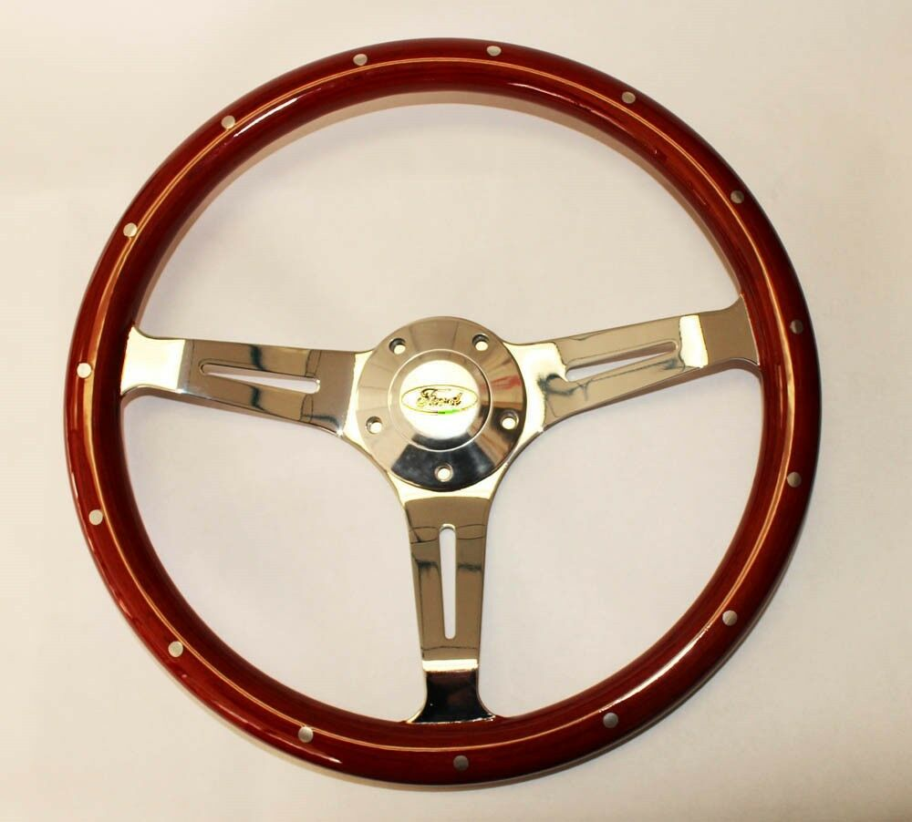 Bronco F100 F150 F250 F350 Wood Steering Wheel Ford Center