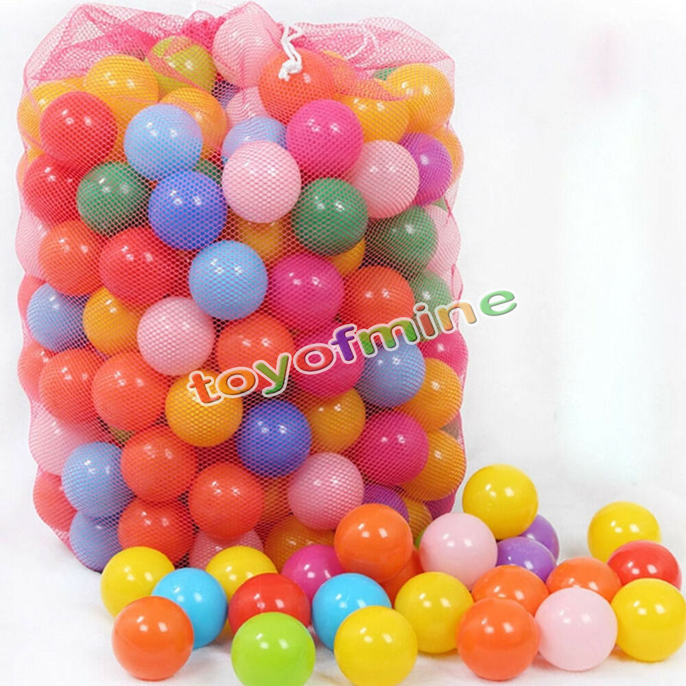 Plastic Toy Balls : Quot pcs colorful fun ball soft plastic ocean
