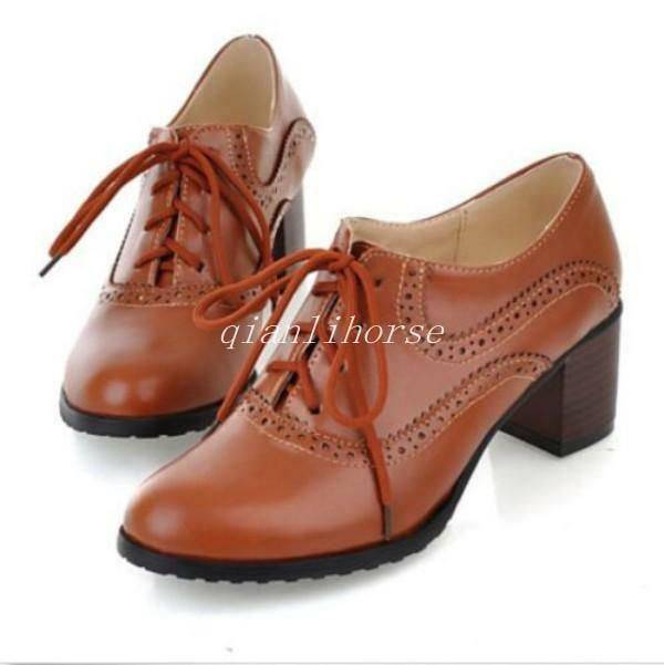 Ladies Oxford Shoes With Heels