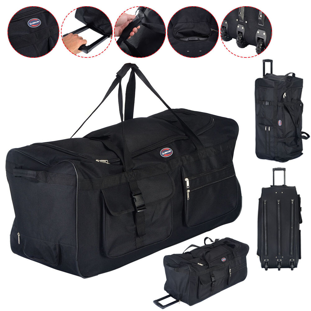 36 rolling wheeled tote duffle bag luggage travel duffle. Black Bedroom Furniture Sets. Home Design Ideas