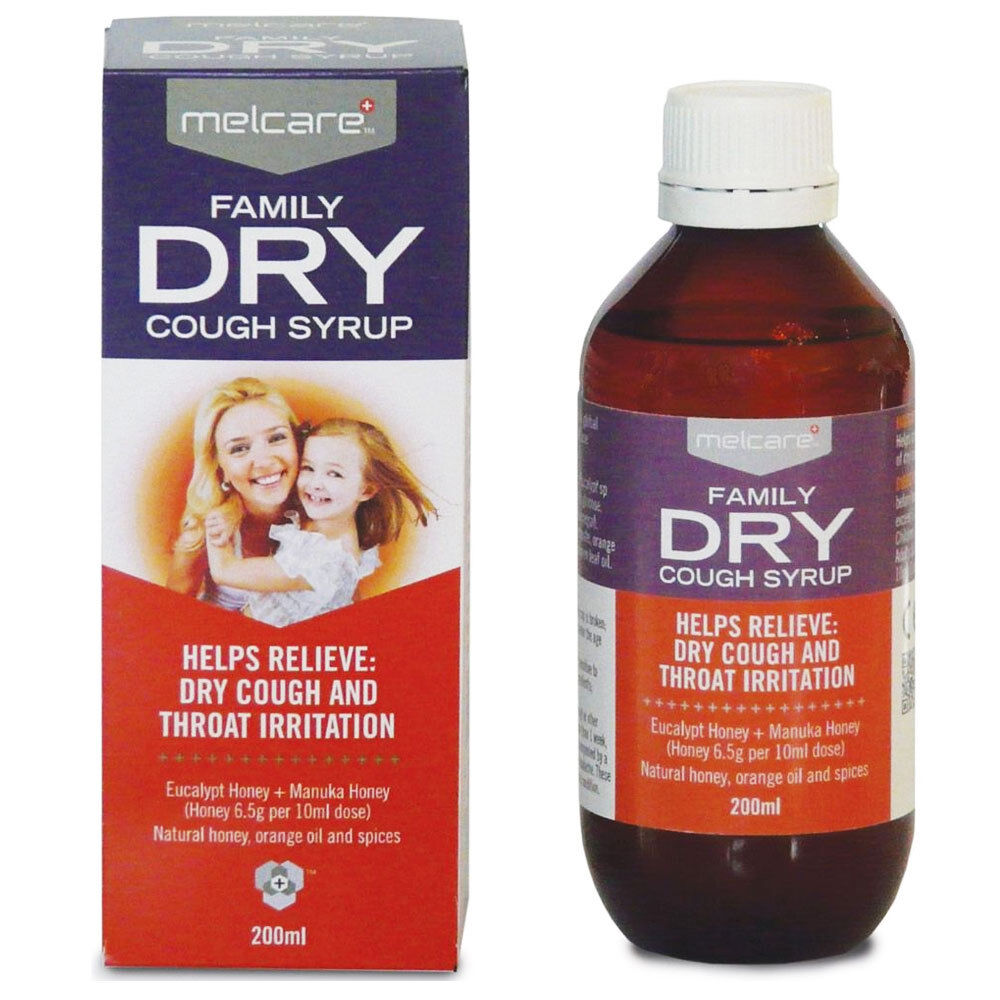 Best Price Melcare Family Dry Cough Syrup 200ml Chemist Ebay
