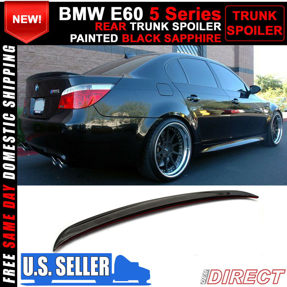 04 10 bmw 5 series e60 ac style 475 painted trunk spoiler ebay. Black Bedroom Furniture Sets. Home Design Ideas