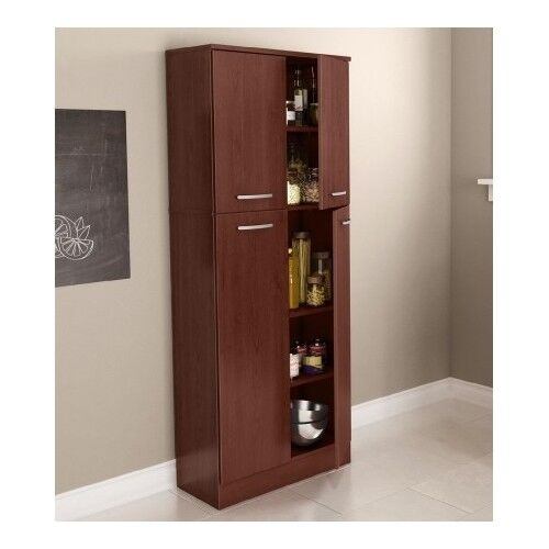 Food Pantry Cabinet With Doors Tall Wood Free Standing