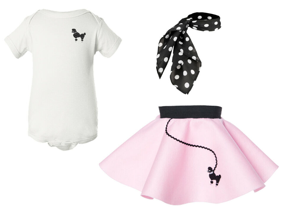 hip hop 50s shop baby infant 3 pc poodle skirt outfit