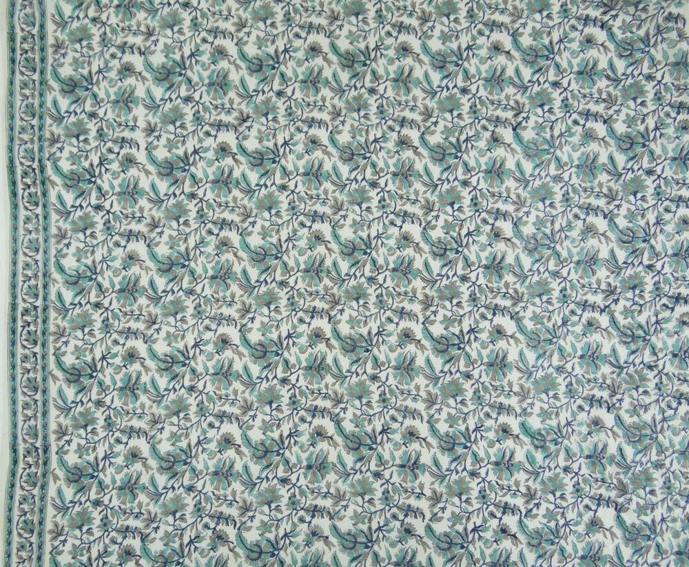 Cotton voile hand block print sewing indian fabric for Sewing fabric by the yard