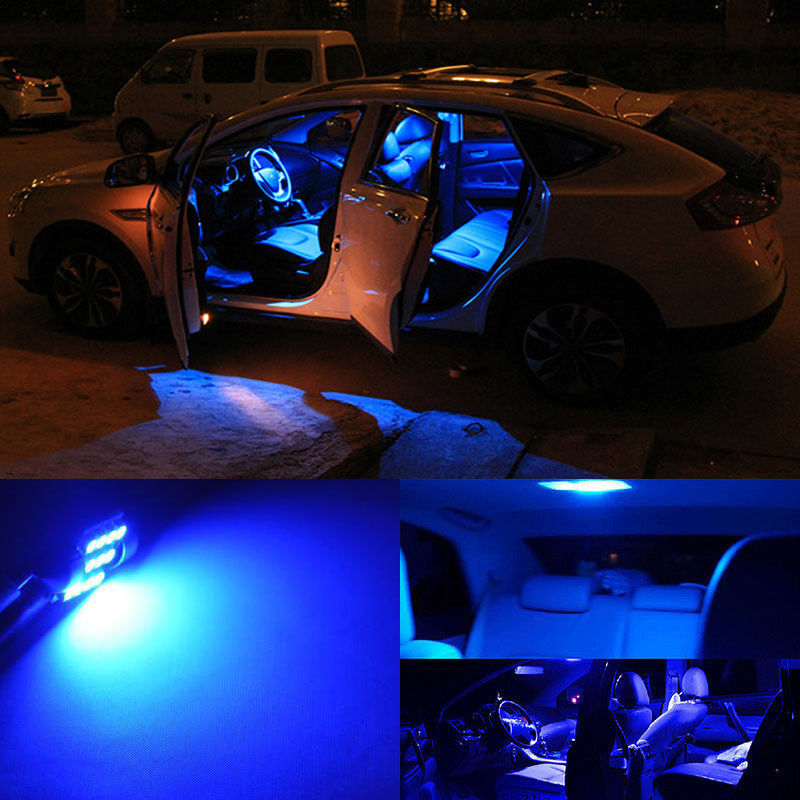 8pcs Bright Blue Led Lights Interior Package Kit For Hyundai Veloster 2013 2014 Ebay