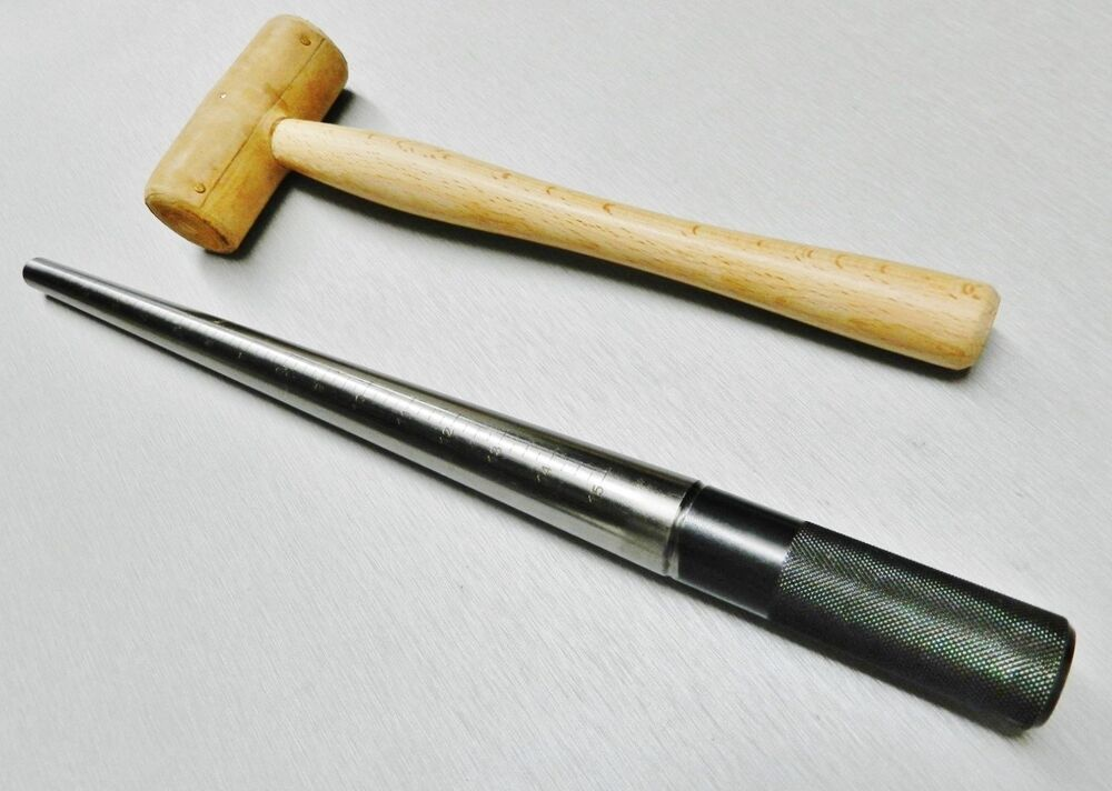 steel ring mandrel rawhide mallet set of 2 jewelry