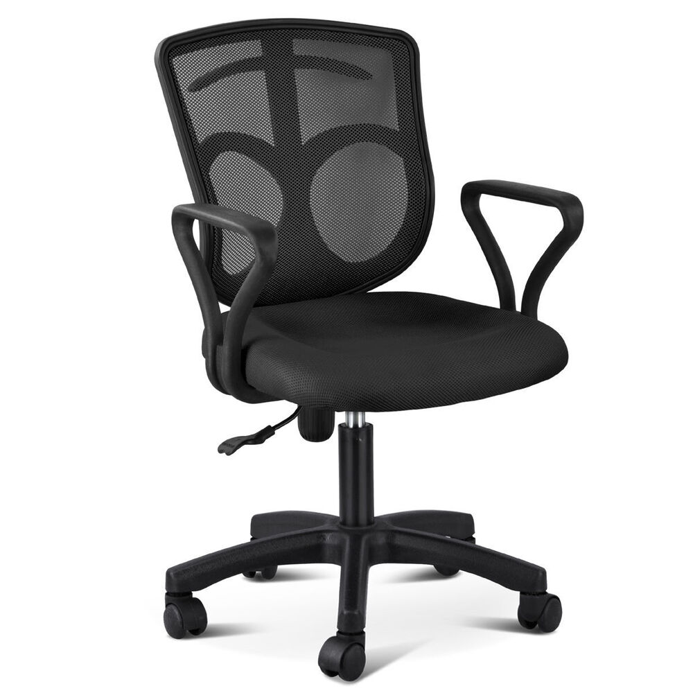 office desk and chair black ergonomic mesh back office computer desk chair 23911