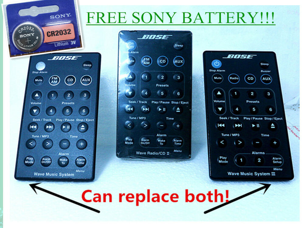 on sale brand new oem bose wave music system ii iii remote w battery ship fast ebay. Black Bedroom Furniture Sets. Home Design Ideas