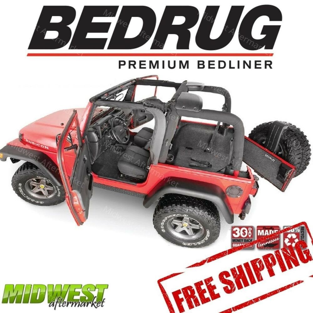 Bedrug Complete Custom Fit Front Amp Rear Floor Liner Kit 97