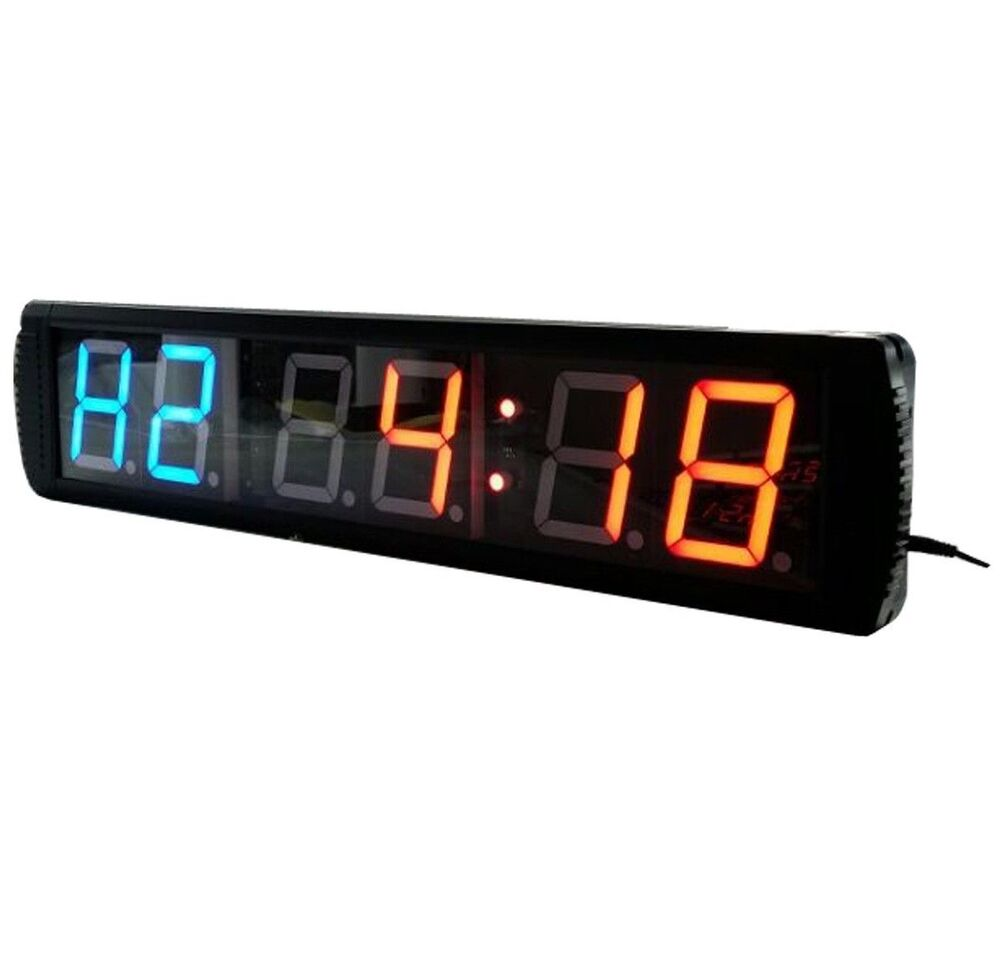 Large led countdown wall clock crossfit timer gym
