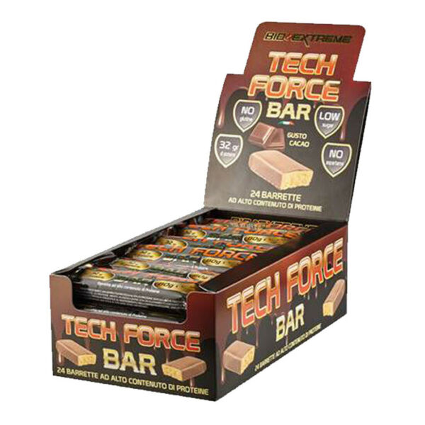TECH FORCE BAR [24 barrette da 80gr] - Bio Extreme - 32g proteine x barretta