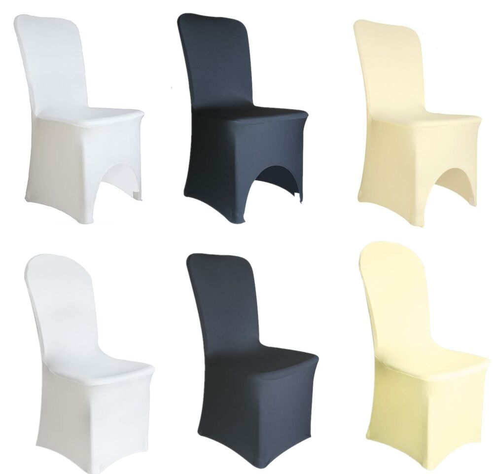 Spandex Lycra Chair Cover White Black Ivory Covers Banquet