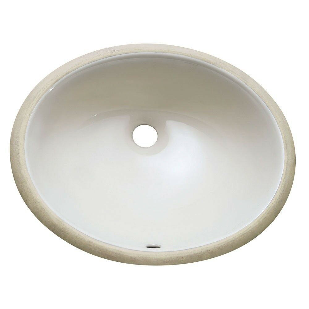 Light bisque undermount ceramic bathroom vanity sink oval for Bowl sinks for bathrooms with vanity