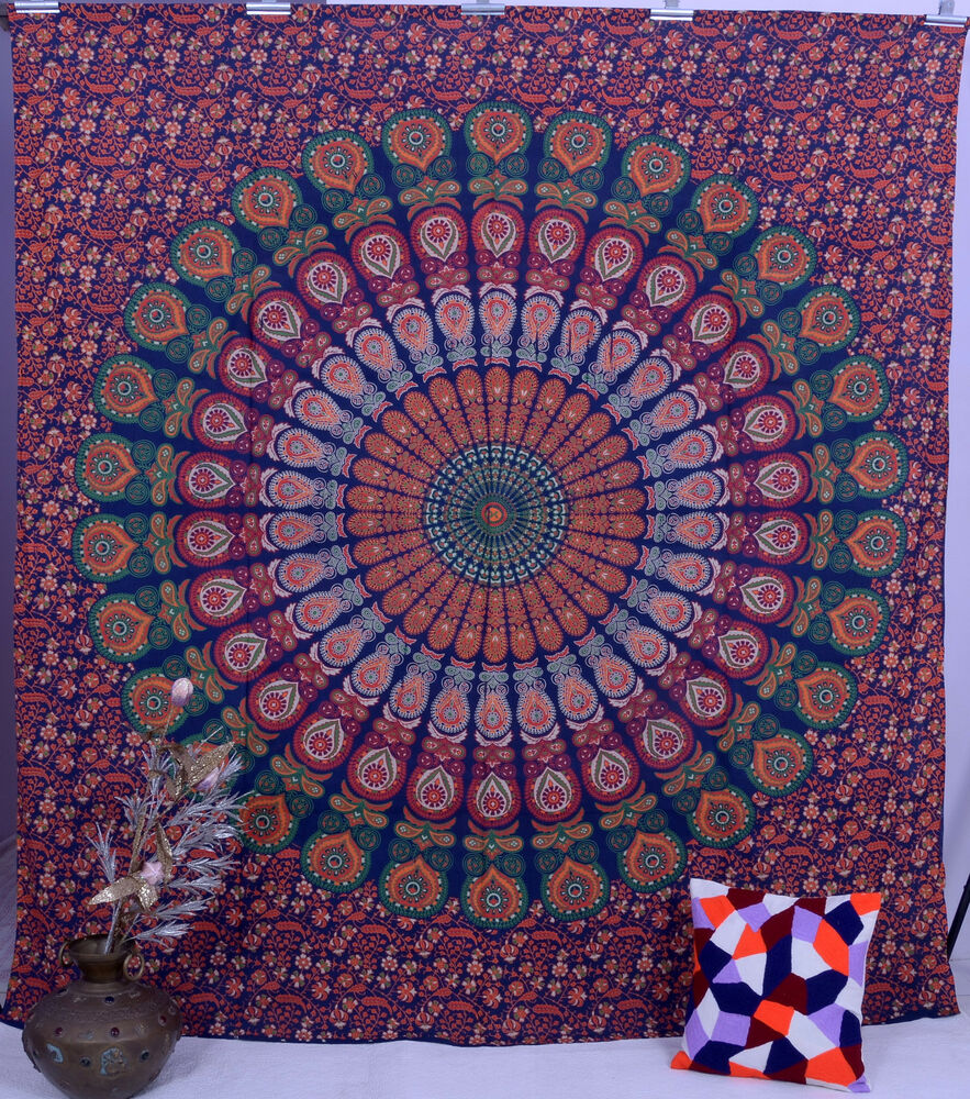 Indian Tapestry Mandala Wall Hanging Ethnic Throw Queen