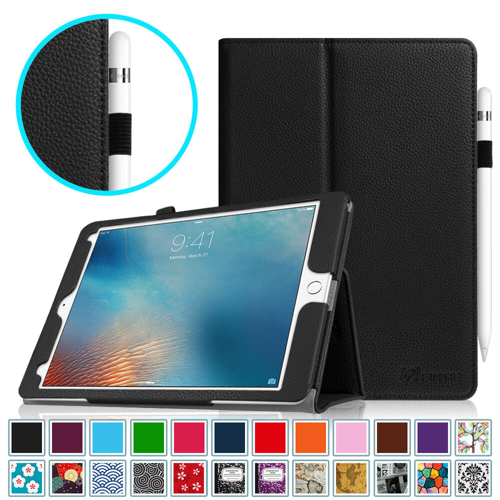 apple ipad pro 9 7 inch leather case cover with apple. Black Bedroom Furniture Sets. Home Design Ideas