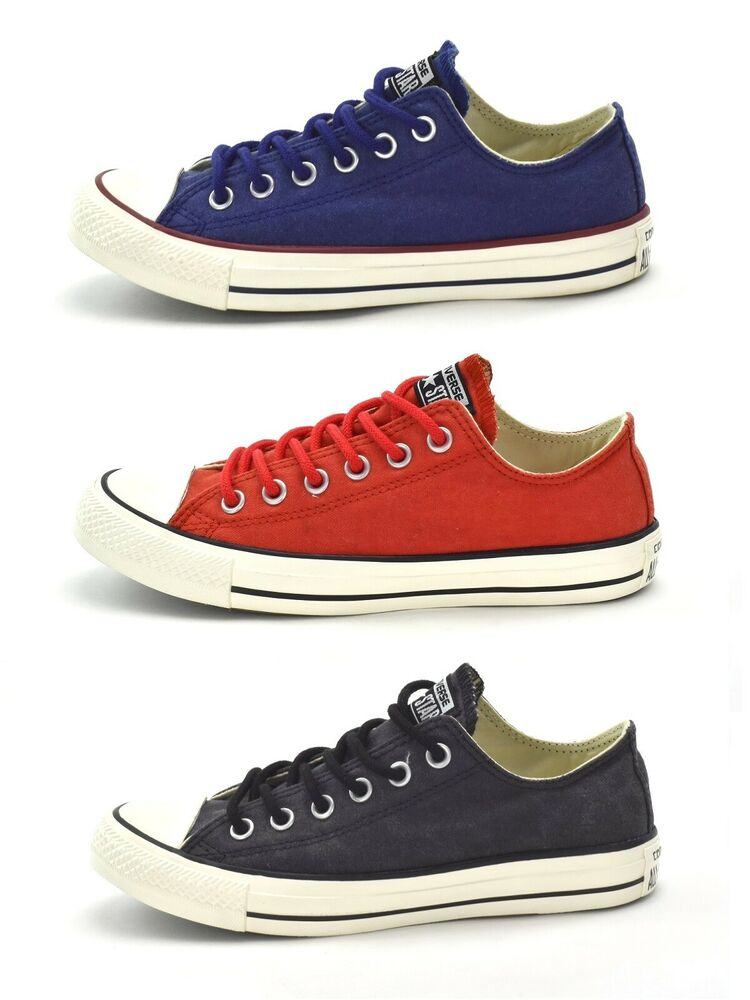 3d75c7f3d0b329 Details about CONVERSE CT AS BASIC WASH OX - UNISEX SNEAKERS -BLUE or RED  or BLACK - BRAND NEW