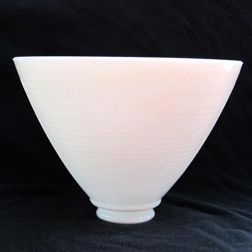 8quot opal glass diffuser for old antique floor lamp for Floor lamp reflector shade glass
