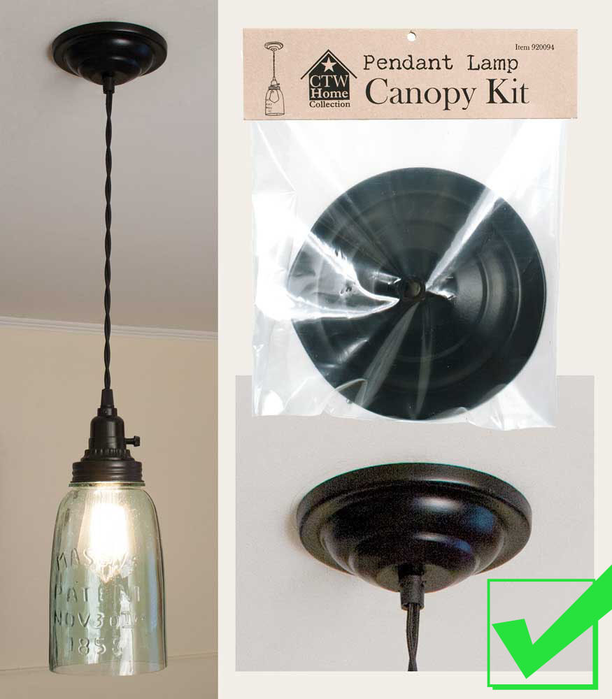 Pendant Light Lamp Ceiling CANOPY KIT