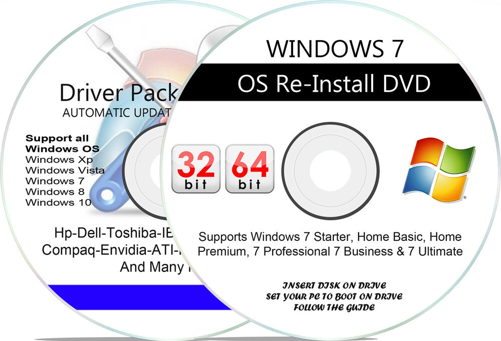 windows 7 sp1 home premium professional ultimate install dvd 32 64 bit disc ebay. Black Bedroom Furniture Sets. Home Design Ideas
