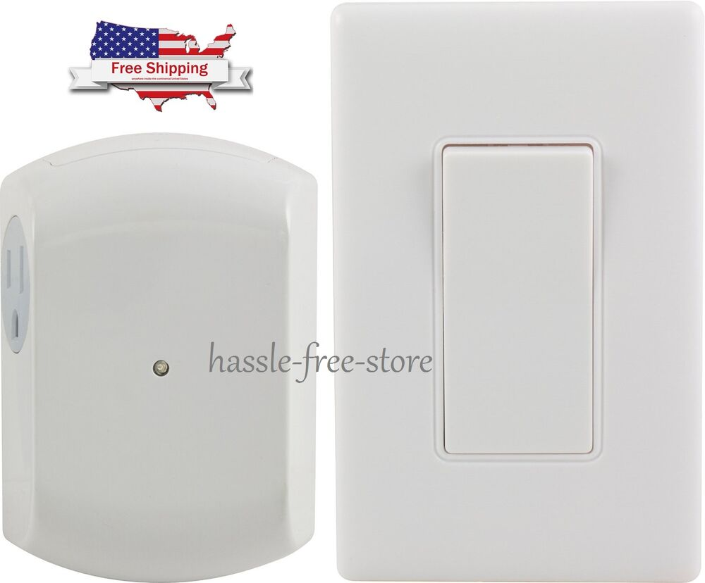 Remote Control Outdoor Wall Lights : 18279 Wireless Wall Switch Remote 1 Outlet Receiver RF Control Light Lamp C6018 eBay