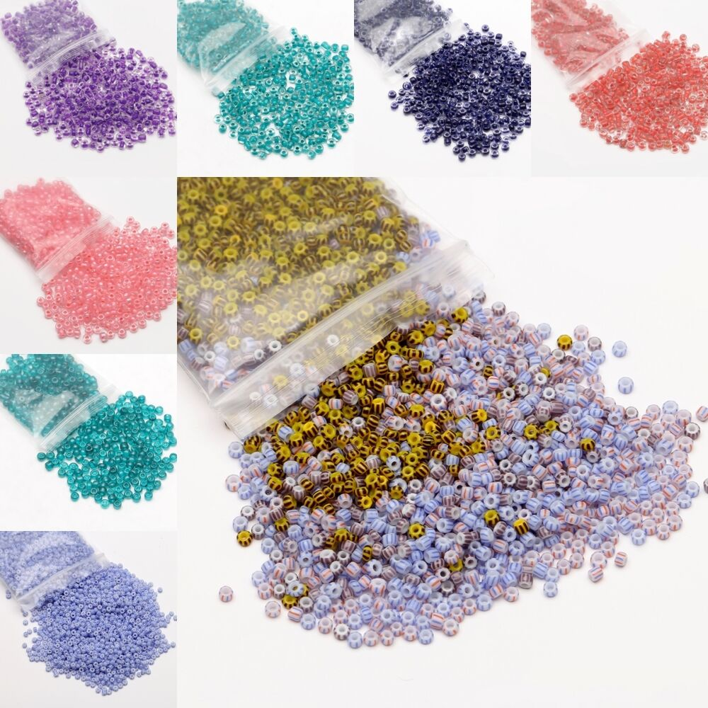 500 3000pcs czech glass seed beads loose beads for jewelry for Natural seeds for jewelry making