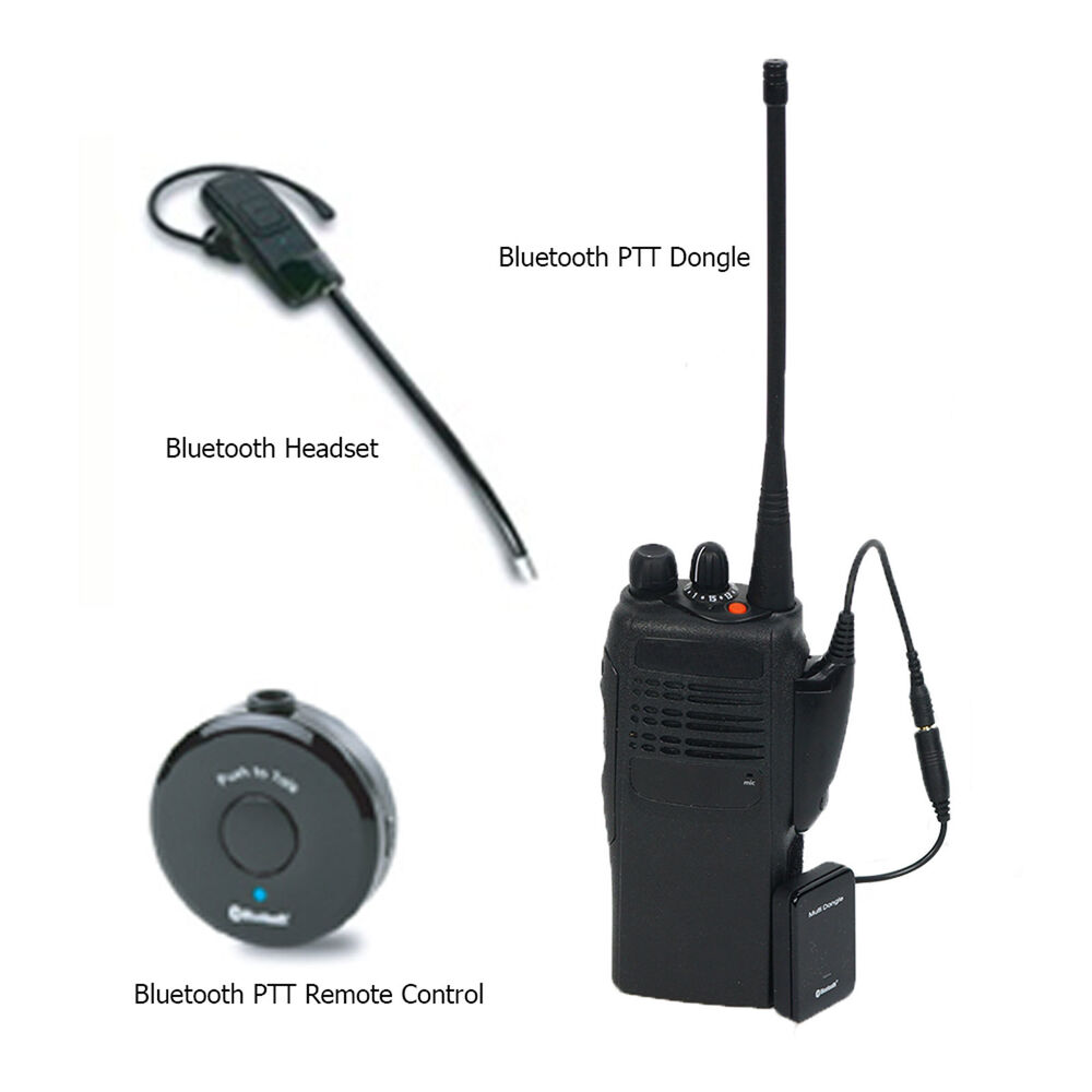 SEECODE Bluetooth Headset Set For Motorola Two Way Radios