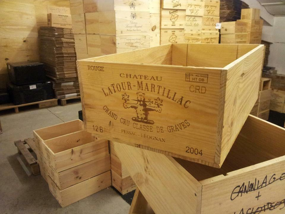 1 x genuine 12 bottle large wooden wine crate box