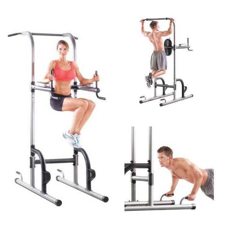 Power Tower Golds Gym Pull Push Chin Up Bar Exercise Dip ...