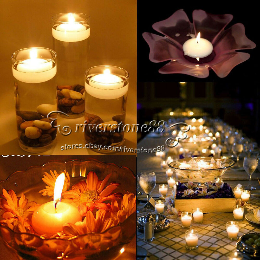 Home Decor Ideas With Candles: 50PCS Round Water Floating Candle Disc Floater Candles