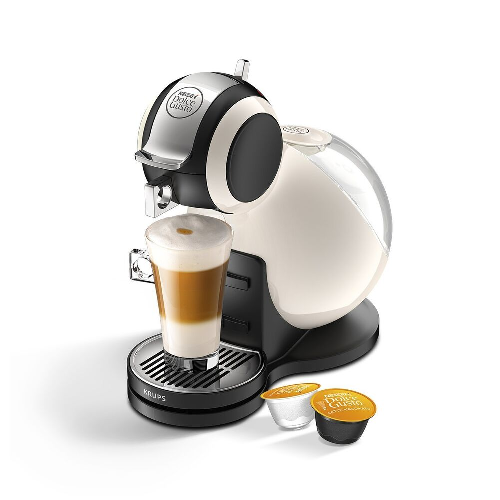 nescafe dolce gusto melody 3 manual coffee machine by krups ivory cream ebay. Black Bedroom Furniture Sets. Home Design Ideas
