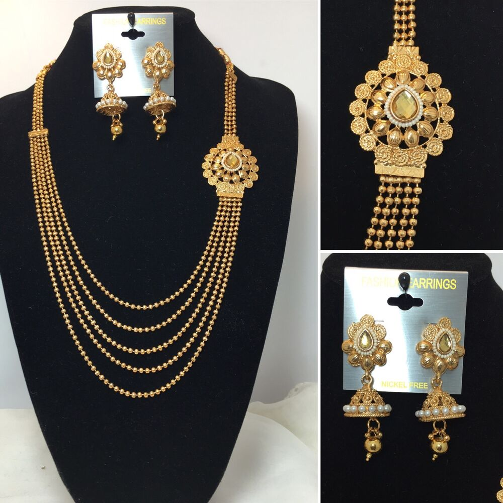 Indian Jewellery And Clothing Polki Necklace Sets From: New Necklace Earring Set Gold Polki Jewellery Indian