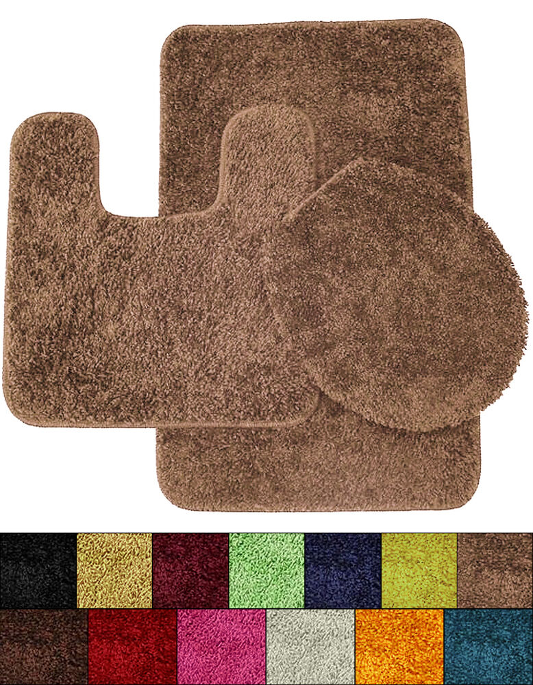 Bath Rug Set Walmart: Layla Bathroom Shag Polyester Rug Bath Mat, Contour And