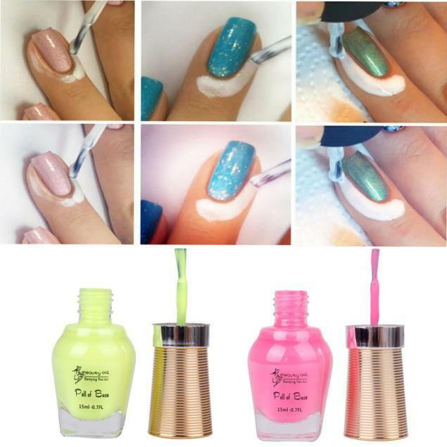 Best Nail Base Coat For Peeling Nails: Peel Off Liquid Tape Latex Tape Peel Off Base Coat Nail
