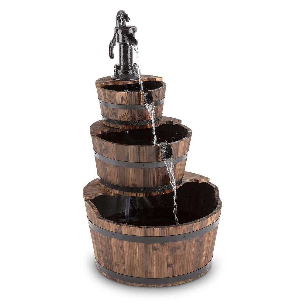 blumfeldt cascada 2g kaskadenbrunnen springbrunnen holz gartenbrunnen 12w pumpe ebay. Black Bedroom Furniture Sets. Home Design Ideas