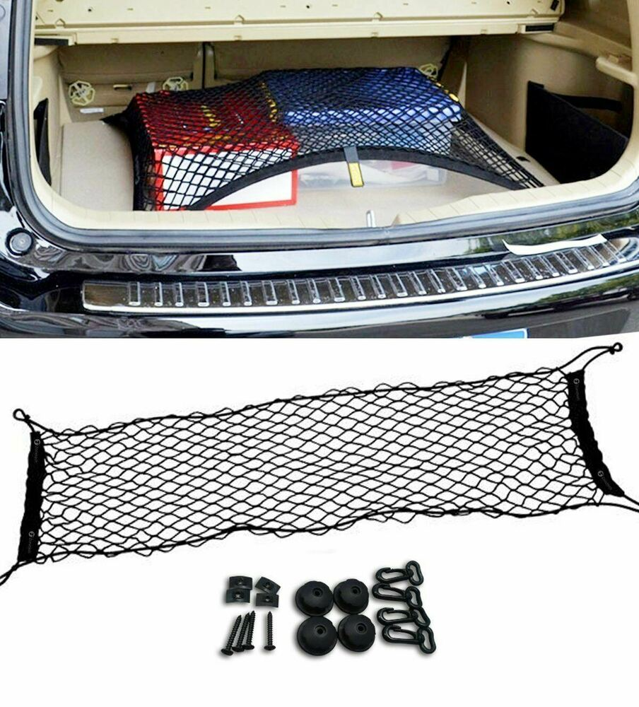 Vehicle Cargo Nets : Zone tech vehicle trunk mesh cargo net storage organizer