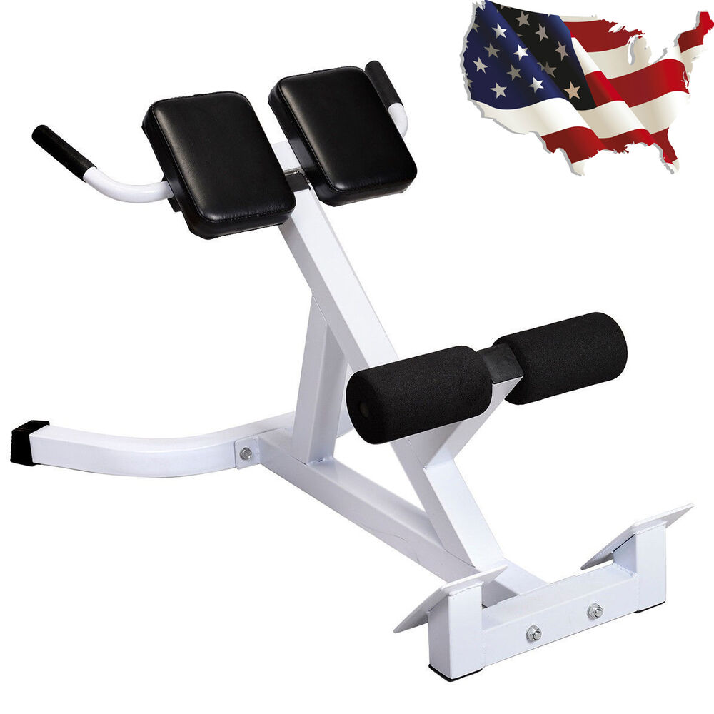 Home gym abdominal extension hyperextension back exercise