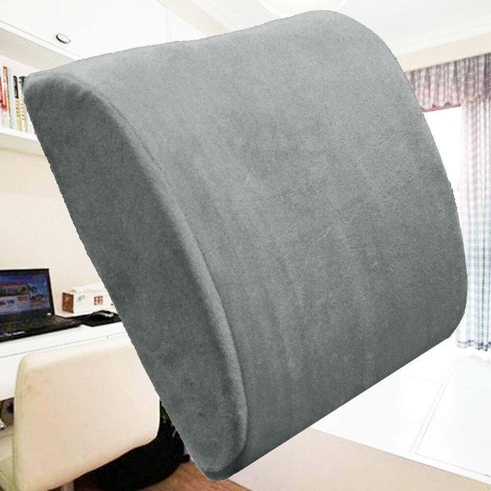 Memory Foam Lumbar Support Cushion Travel Back Pillow Home