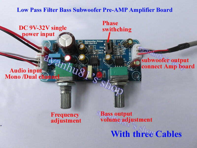 single power dc 9 32v 24v low pass filter bass subwoofer blackout pre amp wiring 2001 cadillac sts bose amp wiring diagram
