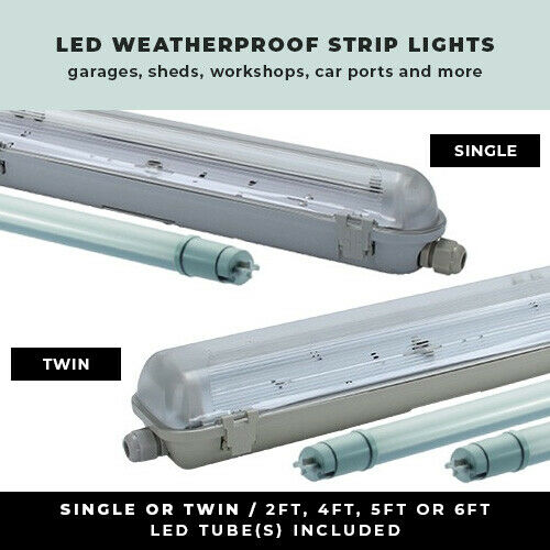 LED WEATHERPROOF STRIP LIGHT 2FT