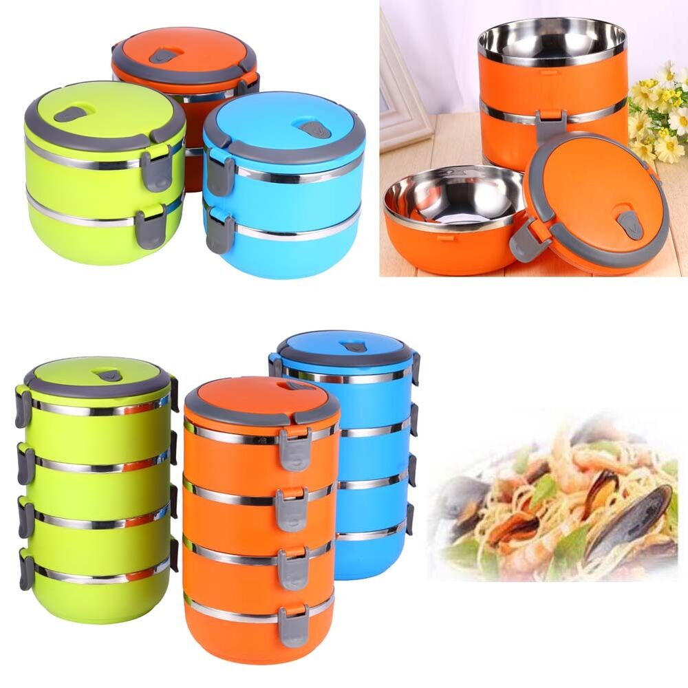 bo te repas go ter d jeuner bento lunch box 1 4 compartiments isotherme tage ebay. Black Bedroom Furniture Sets. Home Design Ideas
