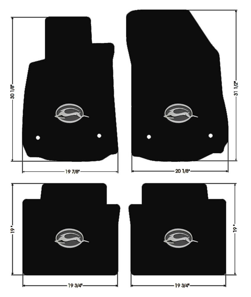 NEW! BLACK Floor Mats 2014-2017 Chevy Impala Embroidered