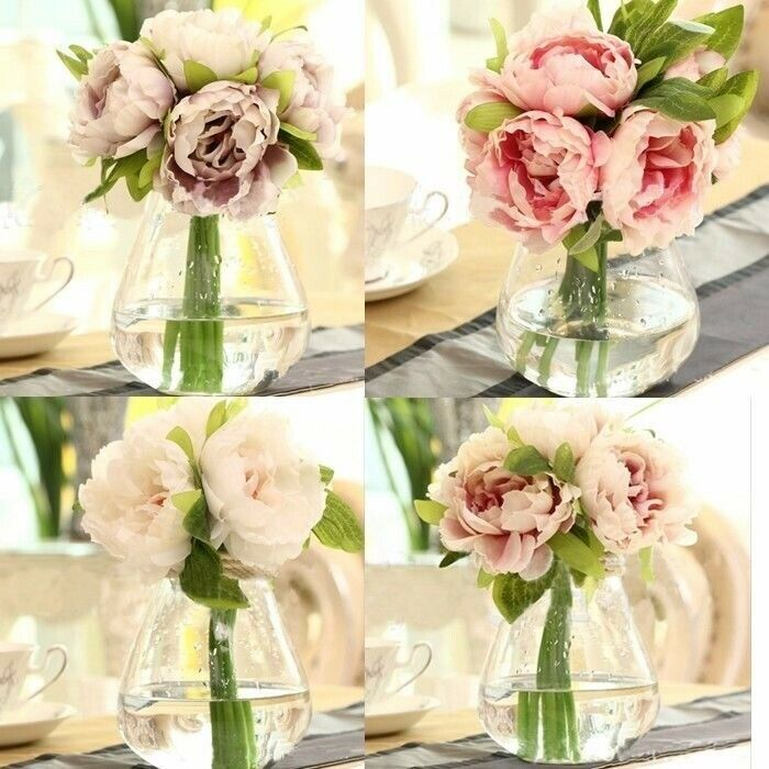 home wedding garden decor artificial fake peony silk