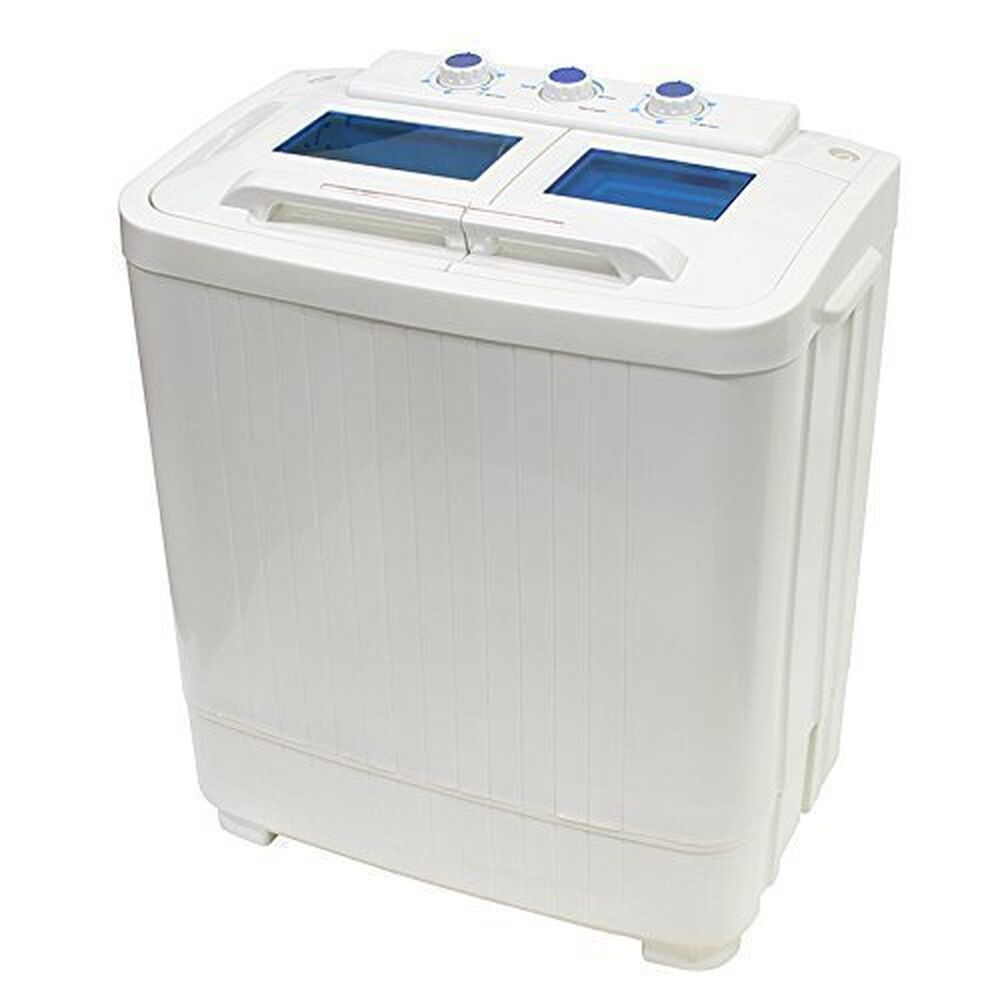 portable compact washer and spin dry cycle with built in pump 33l washer 1 ebay. Black Bedroom Furniture Sets. Home Design Ideas