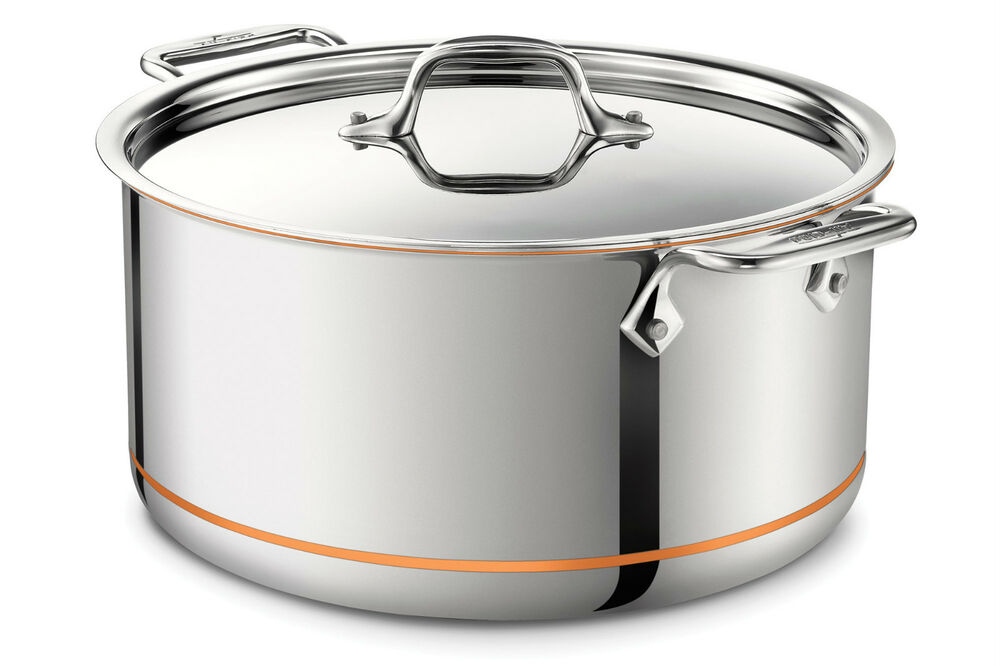 All Clad 6508 Ss Copper Core 5 Ply Bonded Stock Pot 8