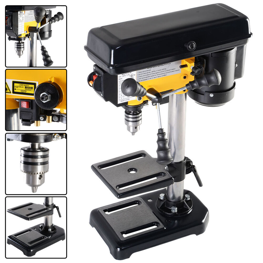 "Electric 300W 8"" 5 Speed 760-3070 RPM Mini Drill Press ..."