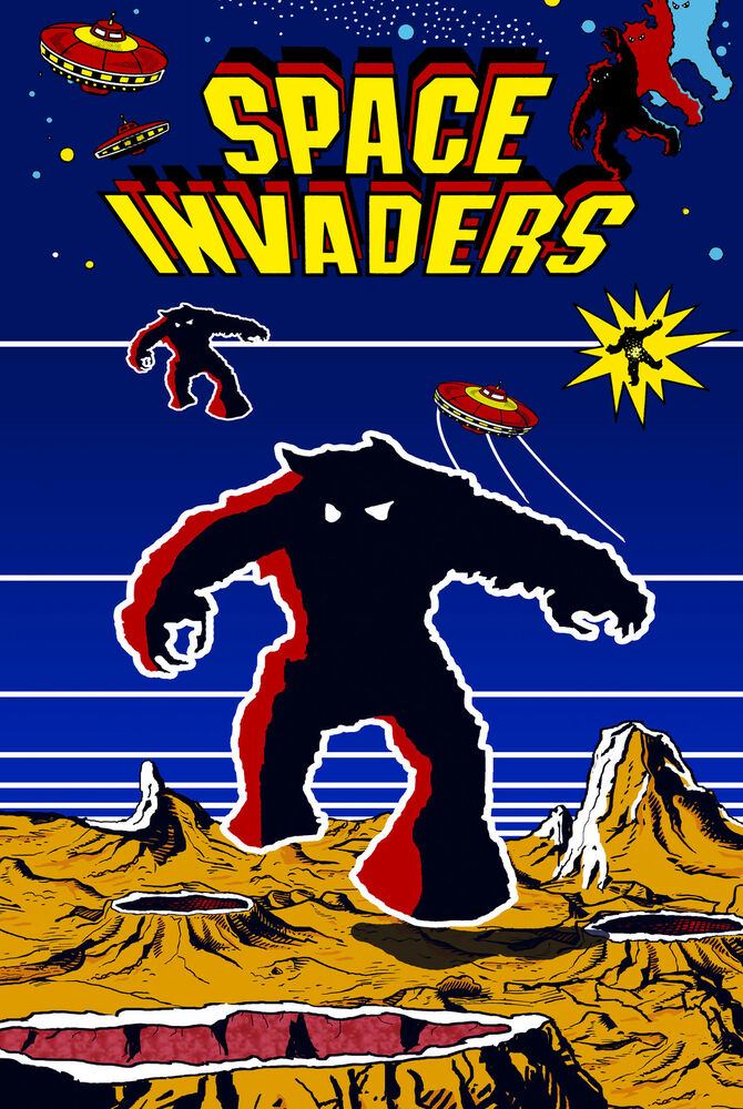 Space Invaders Retro Game Poster |6 Sizes| MAME Arcade ...