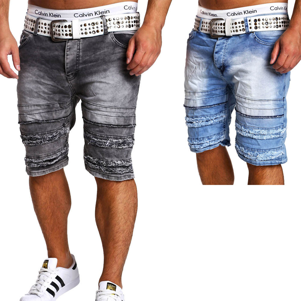 herren jeans bermuda shorts jeansshorts kurze chino hose blau schwarz grau neu ebay. Black Bedroom Furniture Sets. Home Design Ideas